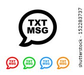 cell phone text message icon | Shutterstock .eps vector #152283737