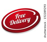 Red Oval Free Delivery Button