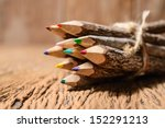 Color Pencil Made Of Branches