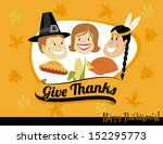 thanksgiving greeting  with... | Shutterstock .eps vector #152295773