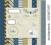 vintage design elements  cute... | Shutterstock .eps vector #152307257