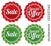 special offer price tags... | Shutterstock .eps vector #152337263