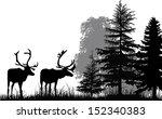 Illustration With Deer...