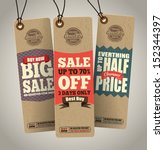 sale tags design | Shutterstock .eps vector #152344397