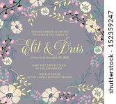 invitation or wedding card with ... | Shutterstock .eps vector #152359247