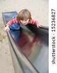 Girl Child On Slide