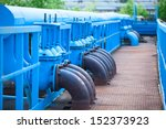 Many Blue Gas Pipelines With...