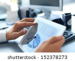 business person analyzing... | Shutterstock . vector #152378273