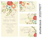 wedding invitation  thank you... | Shutterstock .eps vector #152379077