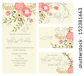 wedding invitation  thank you... | Shutterstock .eps vector #152381663