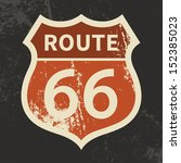 route 66 sign  vector...   Shutterstock .eps vector #152385023