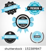 premium quality vector badges... | Shutterstock .eps vector #152389847