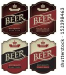 four labels for beer in a retro ... | Shutterstock .eps vector #152398463