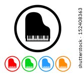 piano icon with color... | Shutterstock . vector #152408363