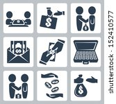 vector isolated bribe bargain... | Shutterstock .eps vector #152410577