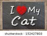 I Love My Cat Handwritten With...
