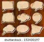 vintage speech bubbles cut out... | Shutterstock . vector #152430197