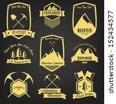 explorer adventure vintage label | Shutterstock .eps vector #152434577