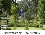 beautiful green city park in... | Shutterstock . vector #152439887