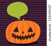 cute funny halloween pumpkin...   Shutterstock .eps vector #152445107