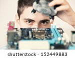 young computer engineer. small... | Shutterstock . vector #152449883