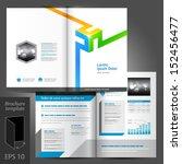 vector white brochure template... | Shutterstock .eps vector #152456477