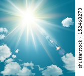 realistic shining sun with lens ... | Shutterstock .eps vector #152468273