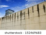 prison wall and cloudy sky. | Shutterstock . vector #152469683
