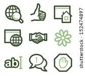 internet icons set 1  green... | Shutterstock .eps vector #152474897