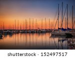 marina with docked yachts at...