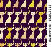 seamless pattern with funny cats | Shutterstock .eps vector #152515313