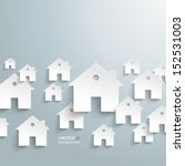 infographic with white houses... | Shutterstock .eps vector #152531003
