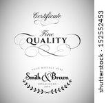 vintage calligraphy labels | Shutterstock .eps vector #152552453