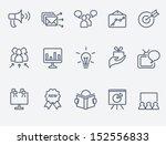 marketing icon set | Shutterstock .eps vector #152556833