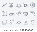 sewing and needlework icons | Shutterstock .eps vector #152556863