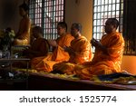 Monk In Prayers
