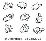 set of hand gestures in cartoon ... | Shutterstock .eps vector #152582723