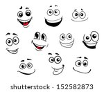 funny cartoon emotional faces... | Shutterstock .eps vector #152582873