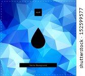 abstract vector blue polygonal...   Shutterstock .eps vector #152599577