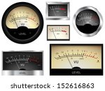 vector audio vu meters.... | Shutterstock .eps vector #152616863