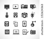 media and network icons set | Shutterstock .eps vector #152624363