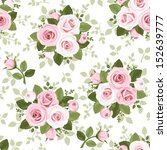 seamless pattern with pink... | Shutterstock .eps vector #152639777