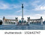heroes square in budapest ... | Shutterstock . vector #152642747