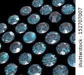 set of round diamond on black... | Shutterstock . vector #152707007