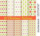 10 christmas different vector... | Shutterstock .eps vector #152724767