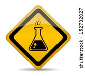 danger chemicals vector sign | Shutterstock .eps vector #152732027