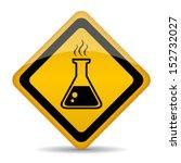 danger chemicals vector sign | Shutterstock .eps vector #152732027