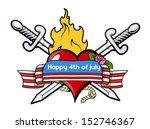 happy 4th of july patriotic... | Shutterstock .eps vector #152746367