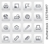 e mail contour icons on gray... | Shutterstock .eps vector #152754497
