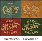 vector vintage race poster. | Shutterstock .eps vector #152783147